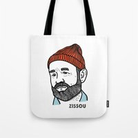 steve zissou Tote Bags featuring Zissou by Daniel Feldt