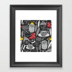White on black. Framed Art Print