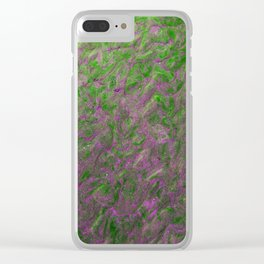 Green Purple Sand Clear iPhone Case