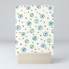Motif ronds dans l'eau - décoratif Mini Art Print