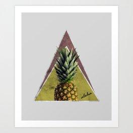Tropical Sweet Pineapple Geometry Art Print