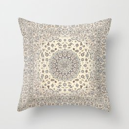 Bohemian Farmhouse Traditional Moroccan Art Style Texture Throw Pillow