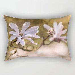 White magnolia flowers Rectangular Pillow