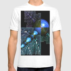 Squares and Spheres Mens Fitted Tee White MEDIUM