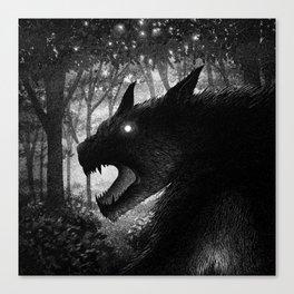 Drawlloween 2015: Werewolf Canvas Print