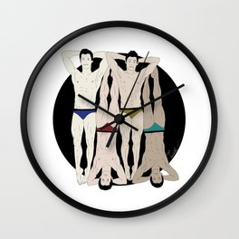 Sexy Swimmers Wall Clock