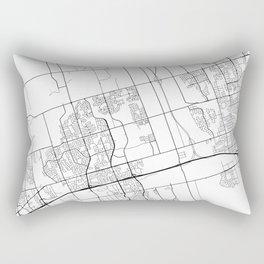 Ajax Map, Canada - Black and White  Rectangular Pillow