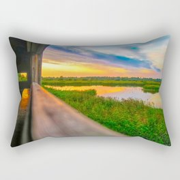 Sunset at The Fens, Norfolk, U.K Rectangular Pillow