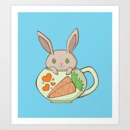 Peeking Bunny Art Print