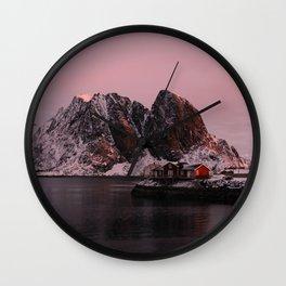 Sunrise in Lofoten Wall Clock