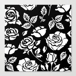 White Rose #illustration #pattern Canvas Print
