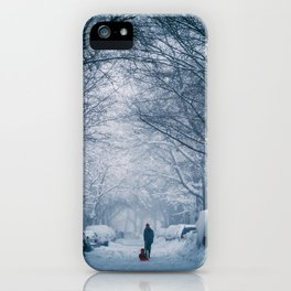 Blizzard in the City iPhone Case