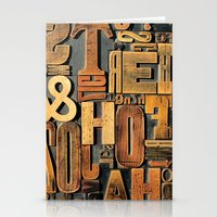 letters Stationery Cards featuring Letters by BONB