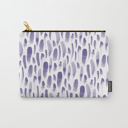 Ultra Violet Feather Pattern Carry-All Pouch