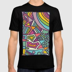 Colourful Chaos Mens Fitted Tee MEDIUM Black