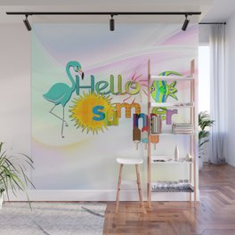 """""""Hello Summer"""" Colorful Graphic Wall Mural"""