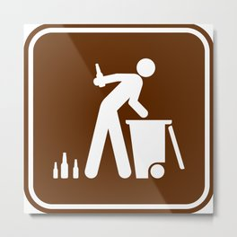 "Urban Pictograms ""Recycle"" Metal Print"