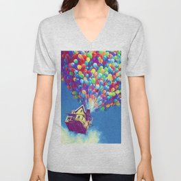 Up Balloons Unisex V-Neck
