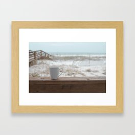 Cuppa at the Beach Framed Art Print