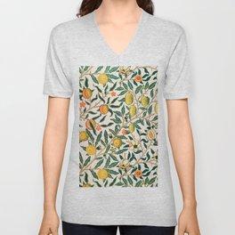 Lemon tree pattern vintage William Morris print Unisex V-Neck