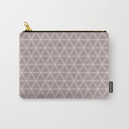 Decorative Blush Triangle Pattern Design Carry-All Pouch