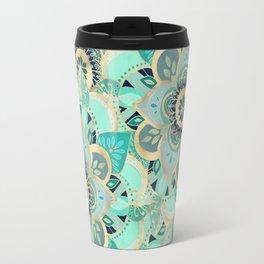 Gilded Emerald Enamel Travel Mug