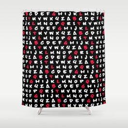 Abc's Shower Curtain