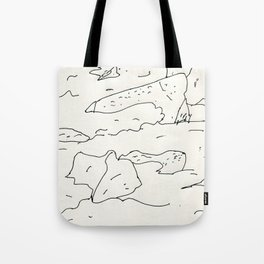 lake rocks Tote Bag
