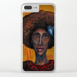 Denise Oliver Velez (Young Lords Party Series) Clear iPhone Case