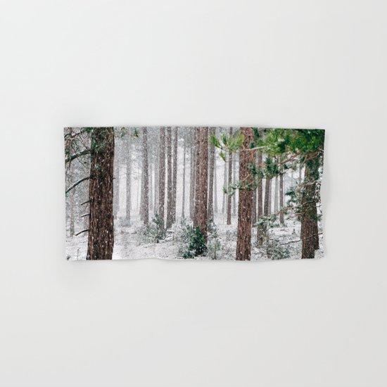 Snow #woods Hand & Bath Towel