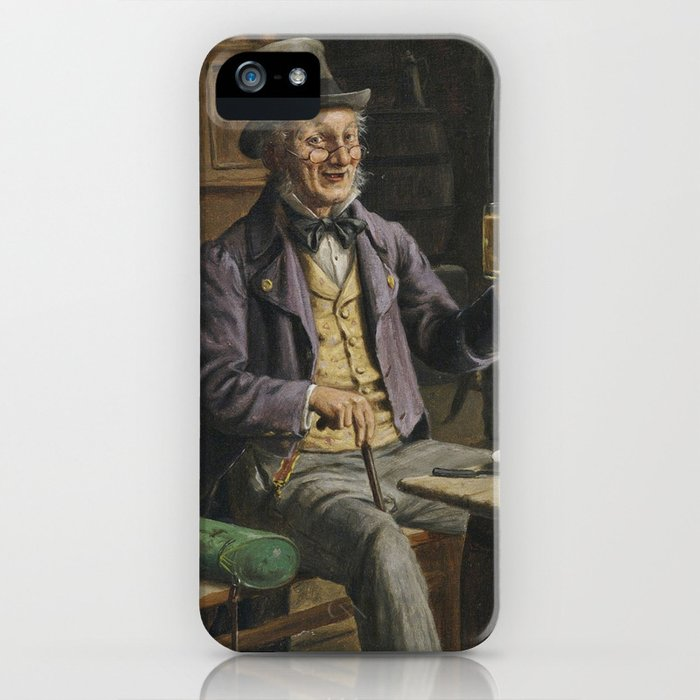 Drinking Beer Painting iPhone Case