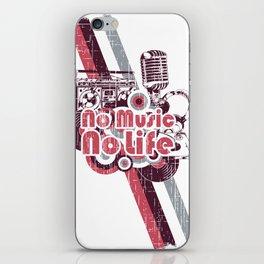 No Music No Life iPhone Skin