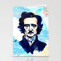 poe Stationery Cards featuring POE by Jon Cain