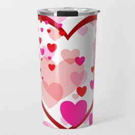 big heart and flying hearts Travel Mug