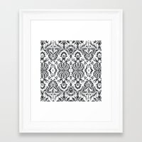 damask Framed Art Prints featuring Damask by Pink Fox Designs