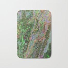 Green Inverted Pour 6 Bath Mat