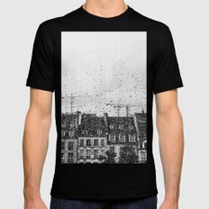 Through the looking glass Mens Fitted Tee MEDIUM Black