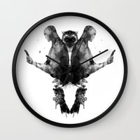watchmen Wall Clocks featuring Watchmen by Laura O'Connor