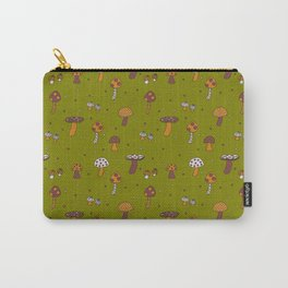 Mushrooms Green Carry-All Pouch