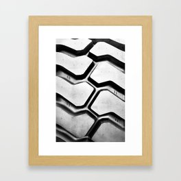 Black rubber tire background Framed Art Print