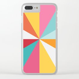 Color Wheel Clear iPhone Case