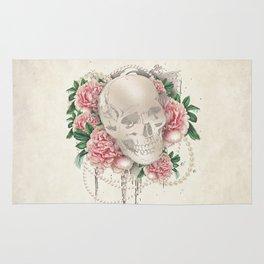 Vintage Floral Skull Rug