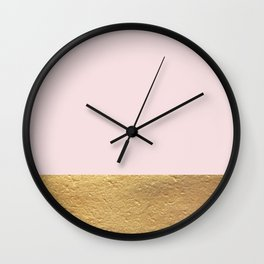 Color Blocked Gold & Rose Wall Clock