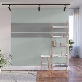 Grey Green with Grey Stripe Wall Mural