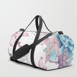 Pretty Pastel Succulents Garden 2 Duffle Bag