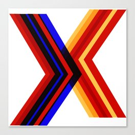 Abstract art in X formt Canvas Print