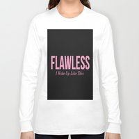 flawless Long Sleeve T-shirts featuring Flawless by LuxuryLivingNYC