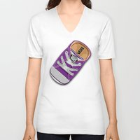 vans V-neck T-shirts featuring Cute Purple Vans all star baby shoes apple iPhone 4 4s 5 5s 5c, ipod, ipad, pillow case and tshirt by Three Second