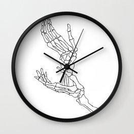 Halloween Skeleton Hands Presents Hoodie spooky horror fan Wall Clock