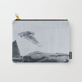 Snowy Owl of Bronte Harbour by Teresa Thompson Carry-All Pouch
